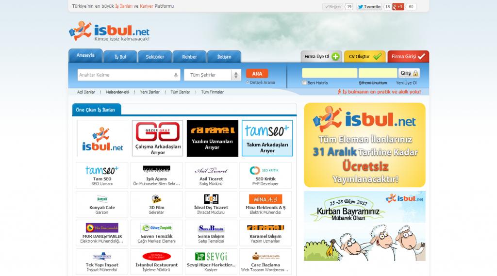 isbul.net ekran görüntüsü