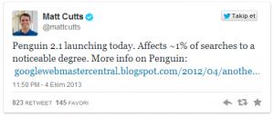 Matt Cutts Penguen 2.1