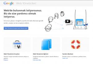 google web yöneticileri