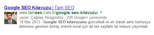 Google Yazarlık Doğrulaması