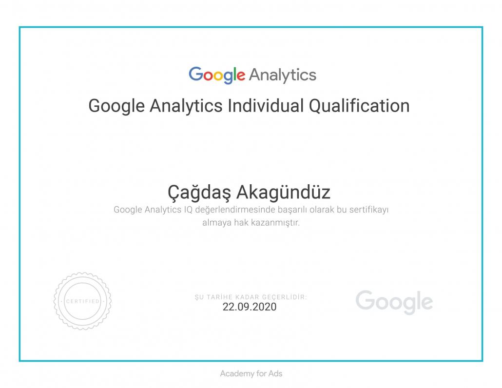 Google Analytics Setifikası